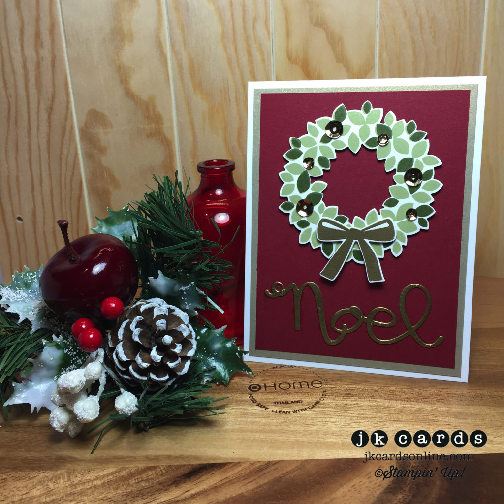 Wondrous Gold Wreath Noel-WM