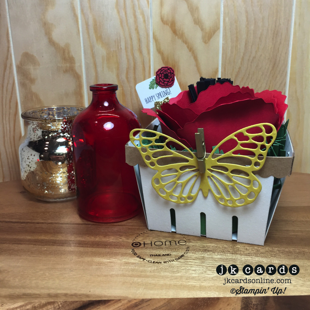 Butterfly Poppy Berry Basket-WM