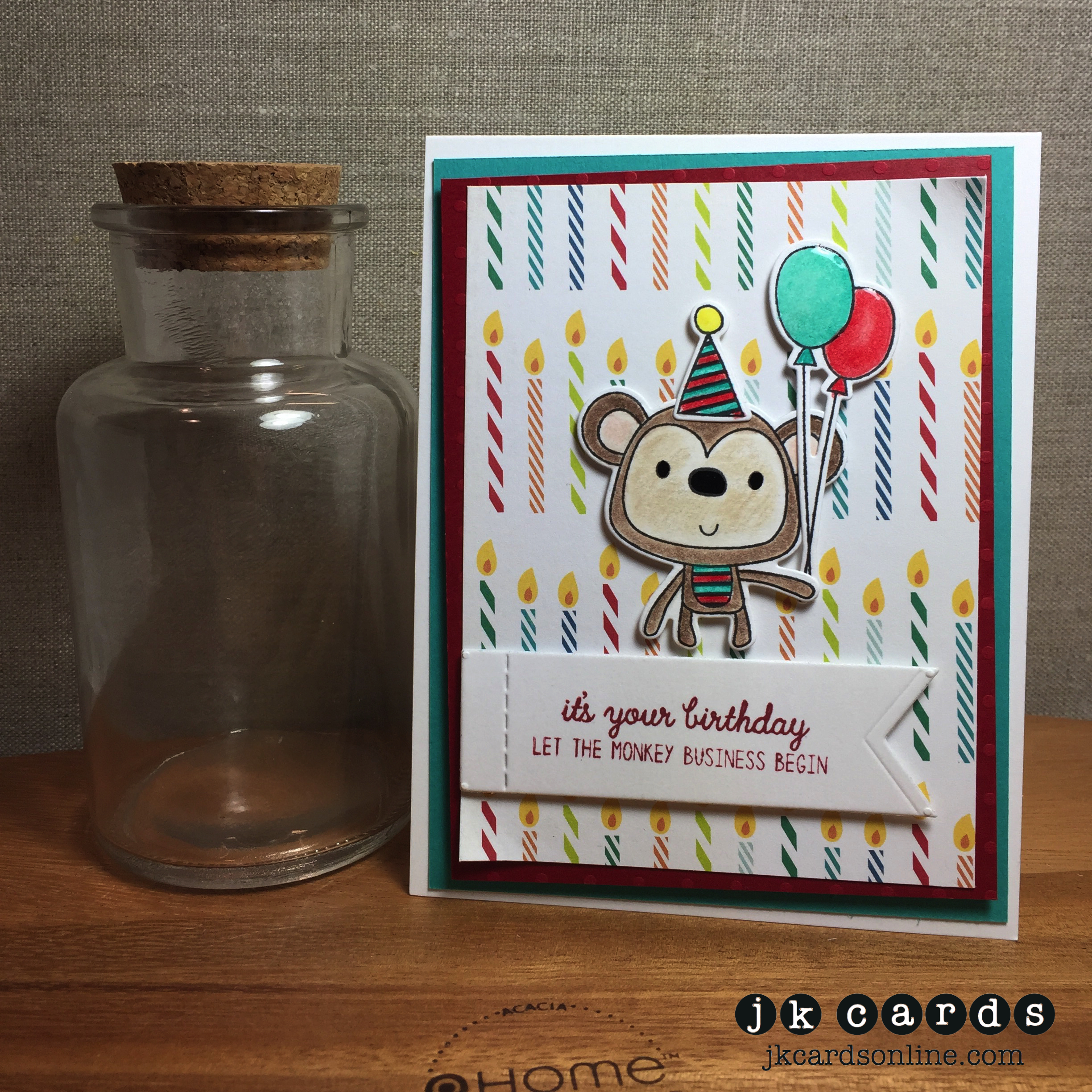 Waves Ombre Anchor Card Class And An Extra Jkcards