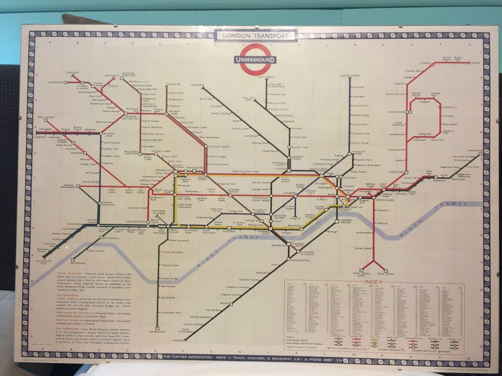 Vintage London Underground Map MT