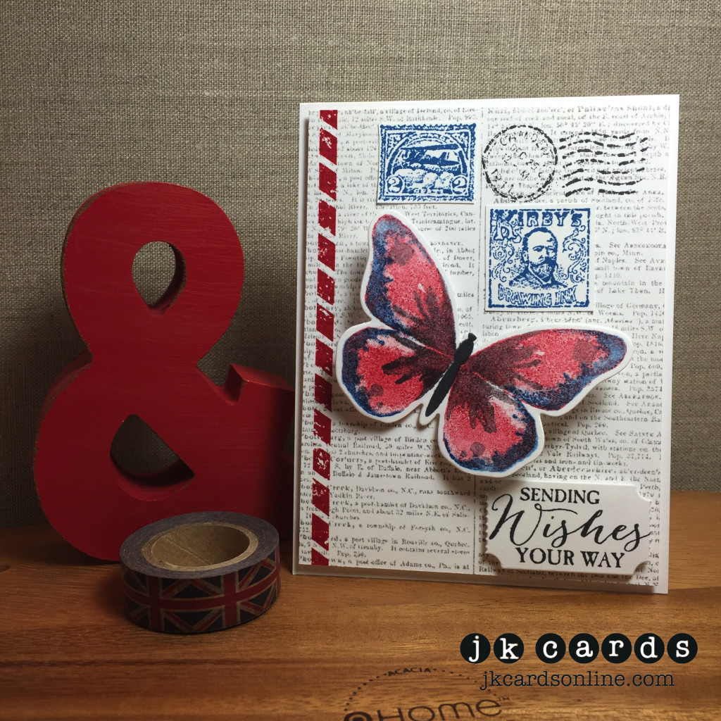 Butterfly Postage Wishes-WM