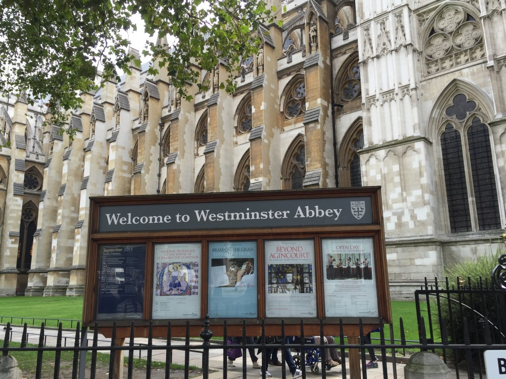 Westminster Abbey Sign