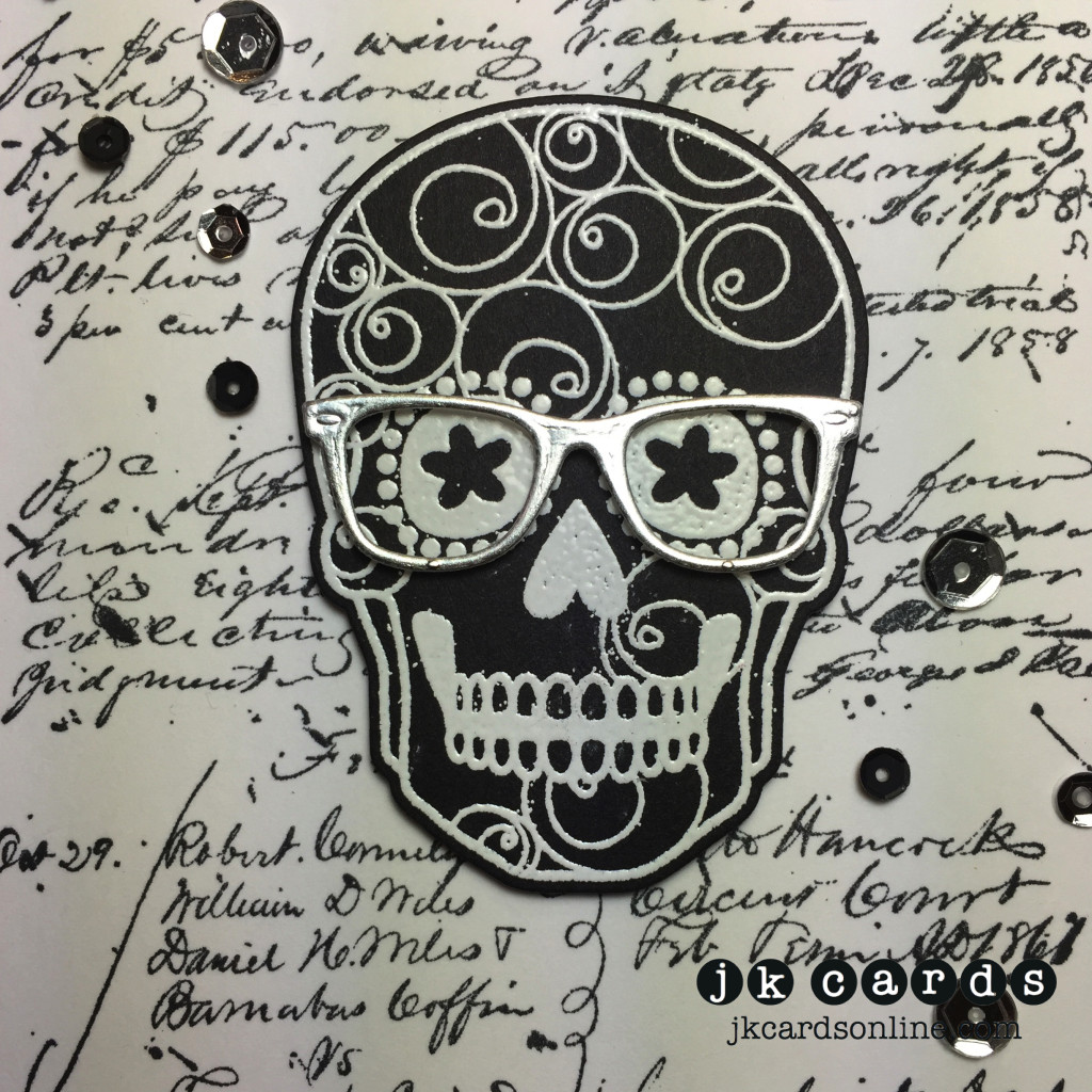 Script Spectacle Sugar Skull Close-WM