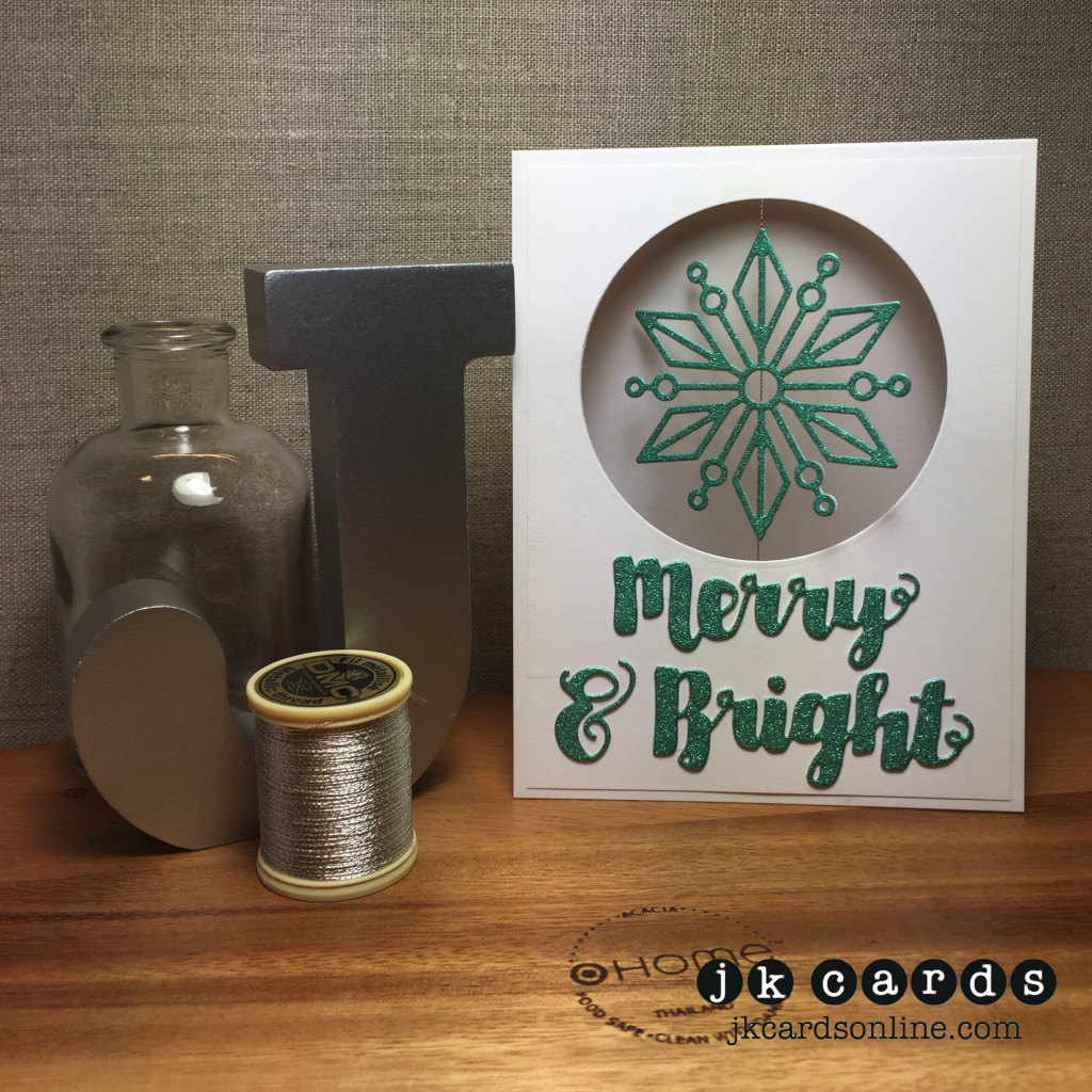 Merry & Bright Snowflake Spinner-WM