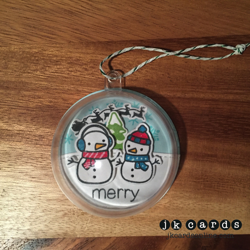 Merry Snowman Ornament-WM