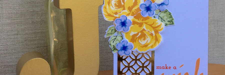 Vintage Yellow and Blue Flowers for Renee